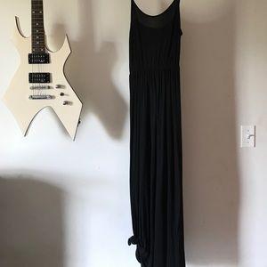 Cotton knit black dress